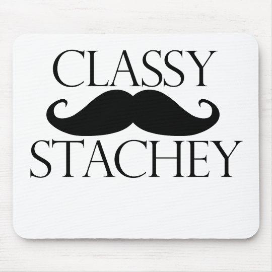Classy Stache Mustache Mouse Pad