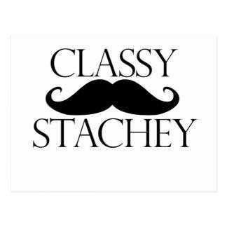 Classy Stache Mustache Postcard