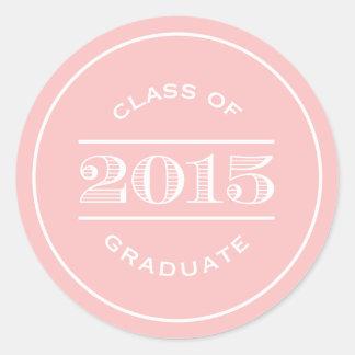 Classy Stamp in Blush | Graduation Sticker