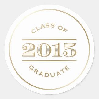 Classy Stamp in White | Graduation Sticker