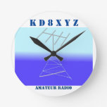 Classy station clock for amateur Radio at Zazzle