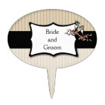 Classy Stripes Personalized Cake Topper