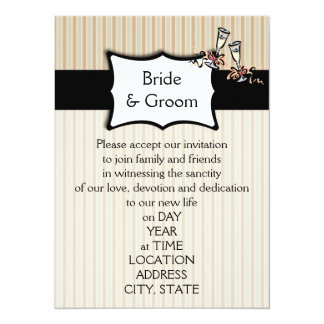 Classy Stripes Wedding Invitations