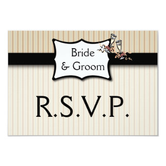 Classy Stripes Wedding Response Card