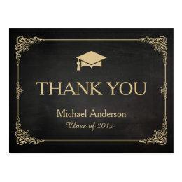 graduation thank you postcards zazzle