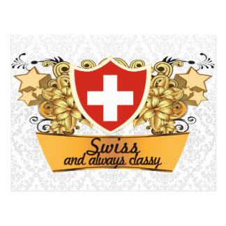 Classy Swiss Postcard