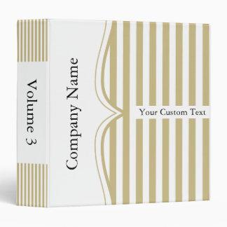 Classy Tan Sand Stripes Binder