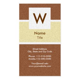 Classy Texture - Modern Monogram Business Card