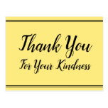 """[ Thumbnail: Classy """"Thank You For Your Kindness"""" Postcard ]"""