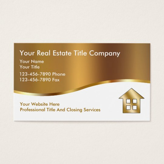 Classy title company business cards zazzlecom for Titles for business cards