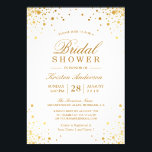"""Classy Trendy Gold Confetti Dots Bridal Shower Card<br><div class=""""desc"""">================= ABOUT THIS DESIGN =================  Classy Trendy Gold Confetti Dots Bridal Shower Invitation.  (1) For further customization,  please click the &quot;Customize&quot; button and use our design tool to modify this template. The background color is changeable.  (2) If you need help or matching items,  please contact me.</div>"""