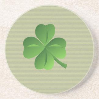 Classy Trendy  Irish Lucky Shamrock Drink Coaster