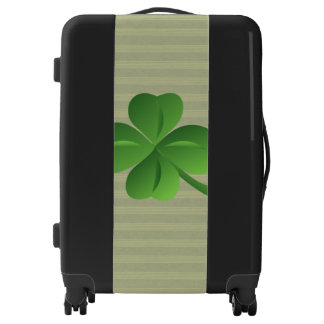 Classy Trendy  Irish Lucky Shamrock Luggage