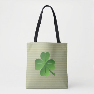 Classy Trendy  Irish Lucky Shamrock Tote Bag