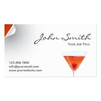 Classy Tropical Cocktail Business Card