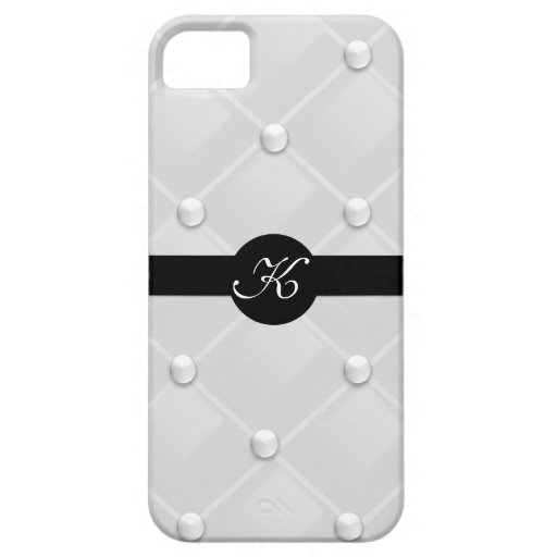 Classy Tufted Pearl Monogram Iphone 5 Cover