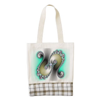 Classy Twist Abstract Zazzle HEART Tote Bag