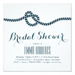 """Classy Tying the Knot Bridal Shower Invitations 5.25"""" Square Invitation Card"""