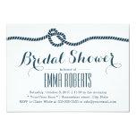 "Classy Tying the Knot Bridal Shower Invitations 5"" X 7"" Invitation Card"