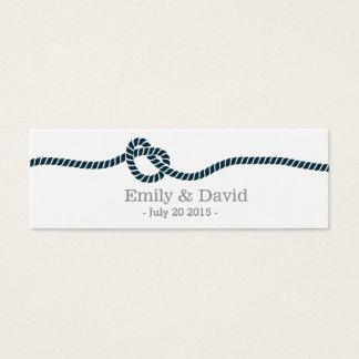 Classy Tying the Knot Wedding Website Insert Card