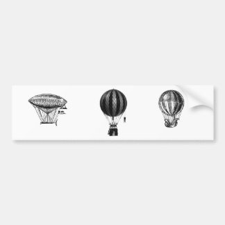Classy vintage air balloon  choose color bumper sticker