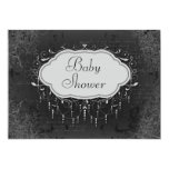 Classy Vintage Chandelier Ornament Baby Shower Invitation