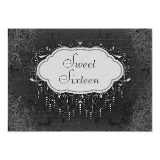 Classy Vintage Chandelier Ornament Sweet 16 Card