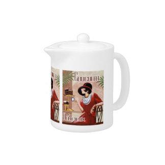 Classy Vintage Chocolate Teapot