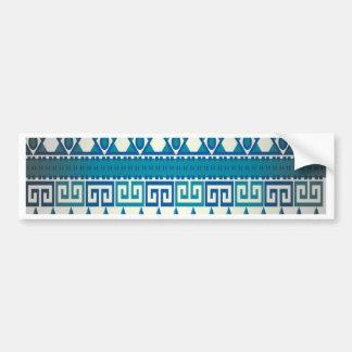 Classy Vintage Design Aztec Art Bumper Sticker