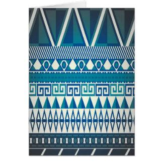 Classy Vintage Design Aztec Art Card