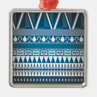 Classy Vintage Design Aztec Art Metal Ornament