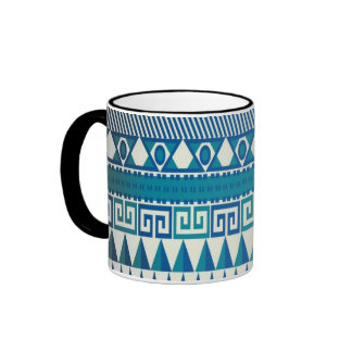 Classy Vintage Design Aztec Art Ringer Mug