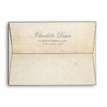 Classy Vintage Effect Envelope with Return Address