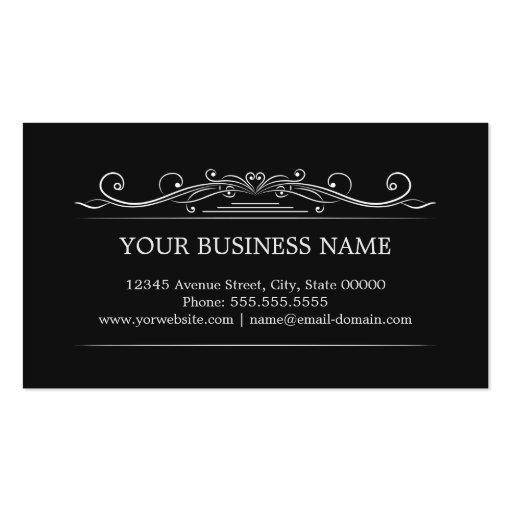 Classy Vintage Frame - Simple Elegant Business Cards (back side)