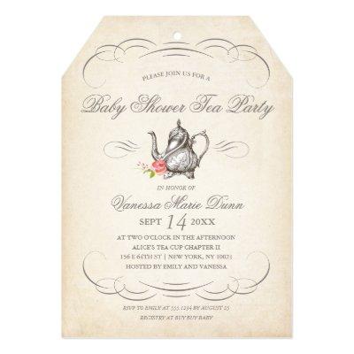 Tea party baby shower invitation zazzle filmwisefo