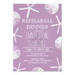 Classy Violet Beach Theme Wedding Rehearsal Dinner 5x7 Paper Invitation Card