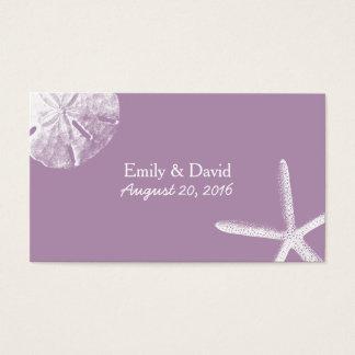 Classy Violet Beach Theme Wedding Website Insert