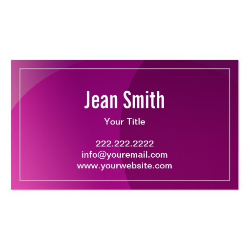 Classy Violet Curves Candy Store Business Card (back side)