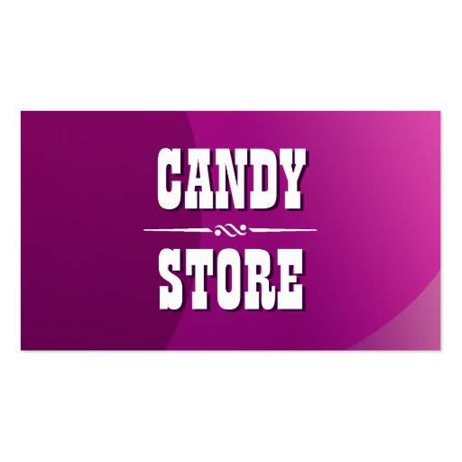 Classy Violet Curves Candy Store Business Card (front side)