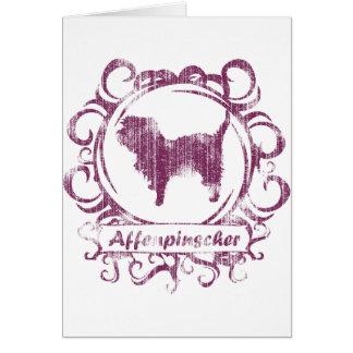 Classy Weathered Affenpinscher Greeting Card
