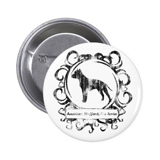 Classy Weathered American Staffordshire Terrier Pins