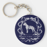 Classy Weathered American Staffordshire Terrier Key Chain