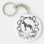 Classy Weathered American Staffordshire Terrier Key Chains
