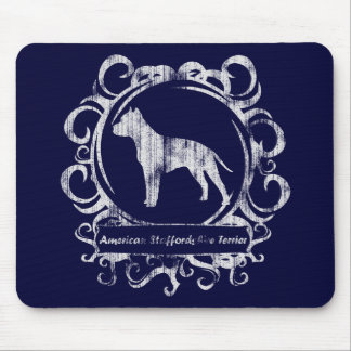 Classy Weathered American Staffordshire Terrier Mouse Pad