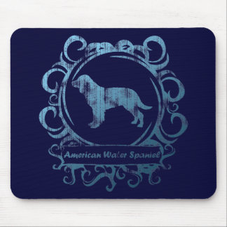 Classy Weathered American Water Spaniel Mouse Pad