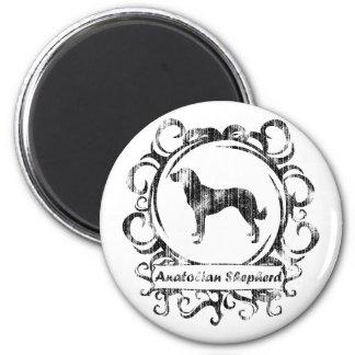 Classy Weathered Anatolian Shepherd 2 Inch Round Magnet
