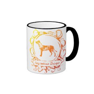 Classy Weathered Argentine Dogo Ringer Coffee Mug