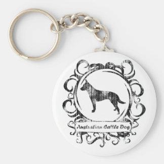 Classy Weathered Australian Cattle Dog Keychain