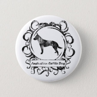 Classy Weathered Australian Cattle Dog Pinback Button