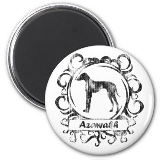 Classy Weathered Azawakh 2 Inch Round Magnet